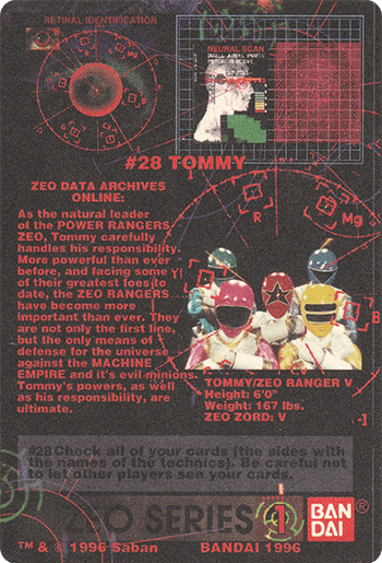 #28 TOMMY - Card Back.