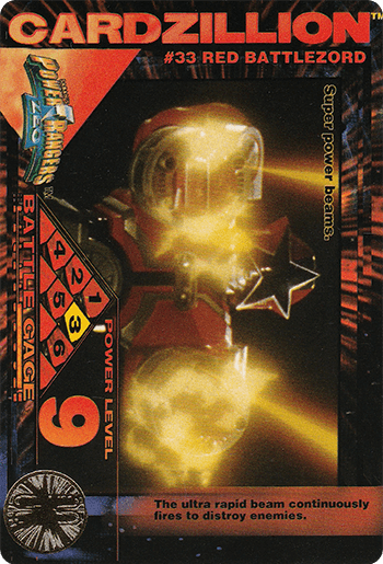 #33 RED BATTLEZORD - Card Front.
