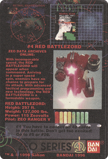 #4 RED BATTLEZORD - Card Back.