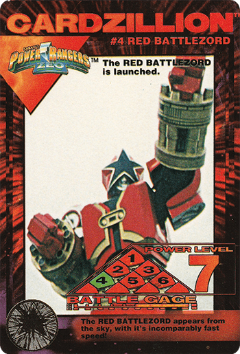 #4 RED BATTLEZORD - Card Front.