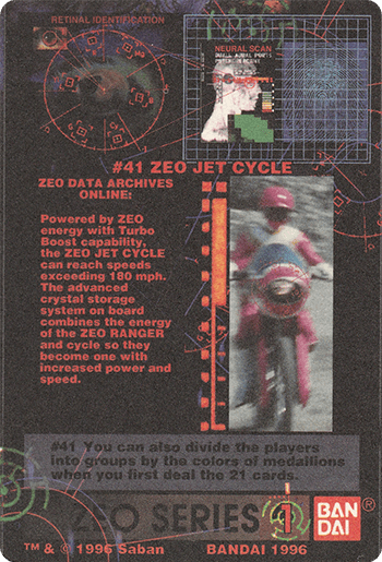 #41 ZEO JET CYCLE - Card Back.