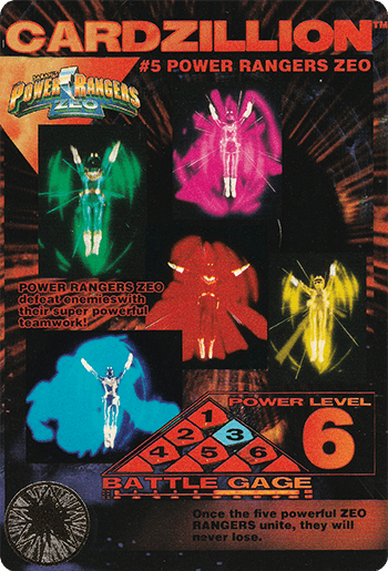 #5 POWER RANGERS ZEO - Card Front.