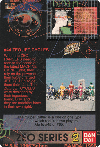 #44 ZEO JET CYCLES - Card Back.