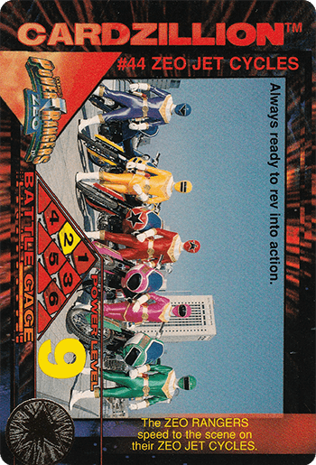 #44 ZEO JET CYCLES - Card Front.