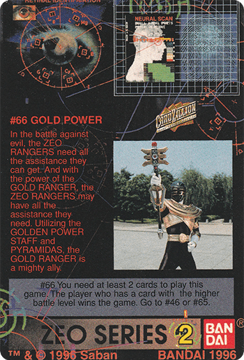 #66 GOLD POWER - Card Back.