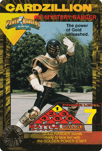 #67 MYSTERY RANGER - Card Front.
