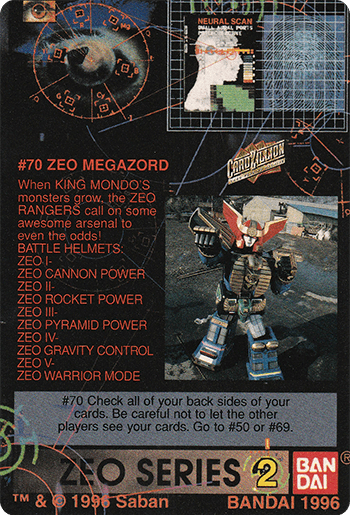 #70 ZEO MEGAOZRD - Card Back.