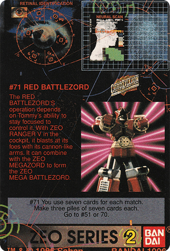 #71 RED BATTLEZORD - Card Back.