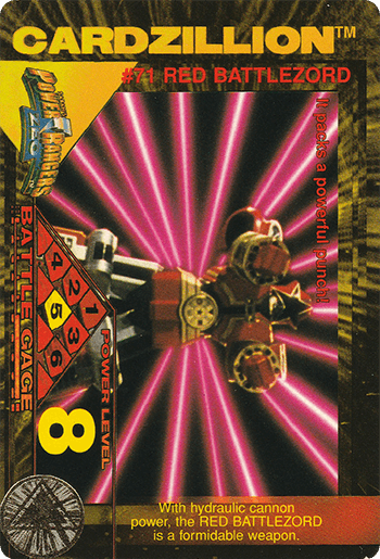 #71 RED BATTLEZORD - Card Front.