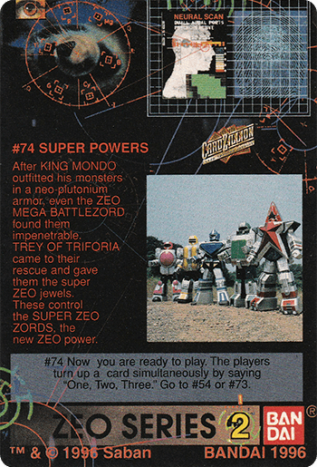 #74 SUPER POWERS - Card Back.
