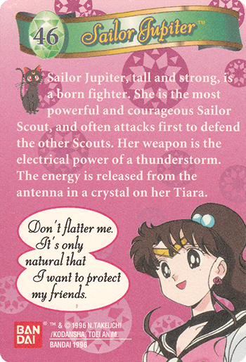 #46 Sailor Jupiter™ - Card Back.