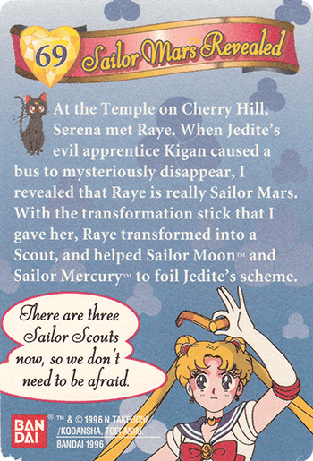#69 Sailor Mars Revealed - Card Back.