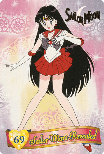 #69 Sailor Mars Revealed - Card Front.