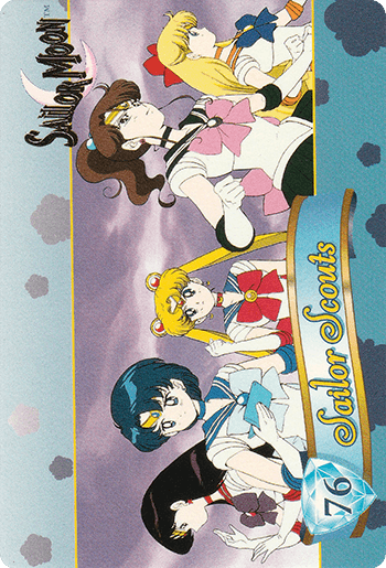 #76 Sailor Scouts - Card Front.