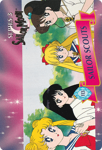 #113 SAILOR SCOUTS - Card Front.