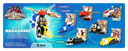 McDonald's Power Rangers Megaforce Happy Meal promo photo.