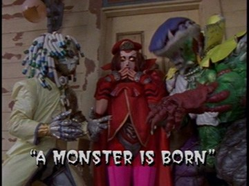 "Title Card for ""A Monster is Born""."