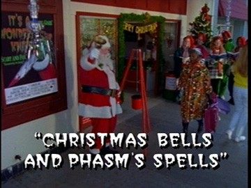 "Title Card for ""Christmas Bells and Phasm's Spells""."