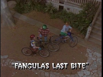 "Title Card for ""Fangula's Last Bite""."
