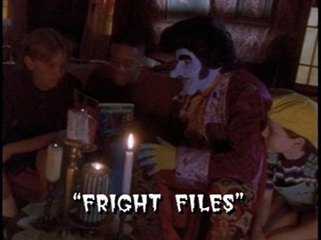 "Title Card for ""Fright Files""."