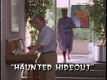 "Title Card for ""Haunted Hideout""."