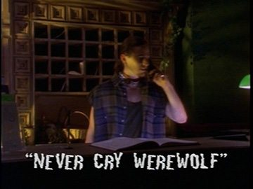 "Title Card for ""Never Cry Werewolf""."