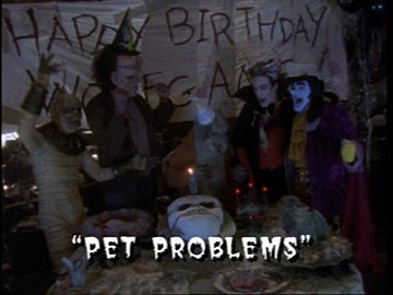 "Title Card for ""Pet Problems""."