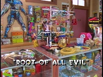 "Title Card for ""Root Of All Evil""."