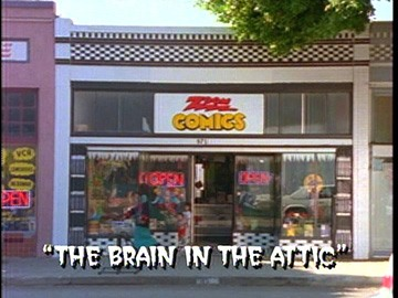 "Title Card for ""The Brain in the Attic""."