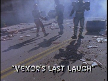 "Title Card for ""Vexor's Last Laugh""."