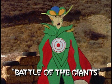 "Title Card for ""Battle of the Giants""."