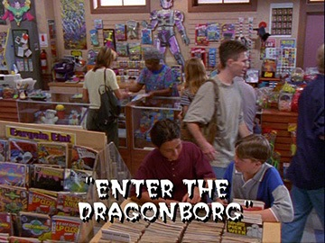 "Title Card for ""Enter the Dragonborg""."