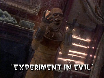 "Title Card for ""Experiment in Evil""."