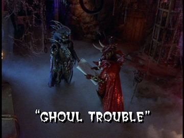 "Title Card for ""Ghoul Trouble""."