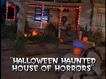 "Title Card for ""Halloween Haunted House of Horrors""."