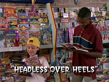 "Title Card for ""Headless Over Heels""."