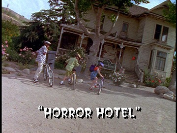 "Title Card for ""Horror Hotel""."