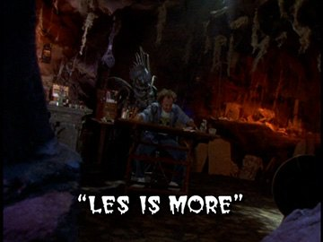 "Title Card for ""Les is More""."