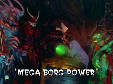 "Title Card for ""Mega Borg Power""."