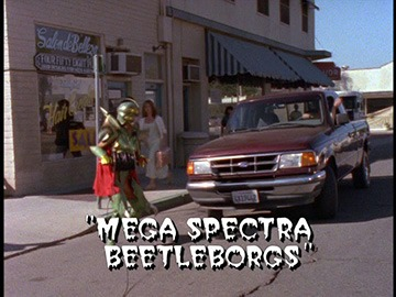 "Title Card for ""Mega Spectra Beetleborgs""."