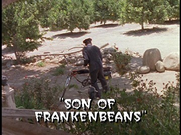 "Title Card for ""Son of Frankenbeans""."