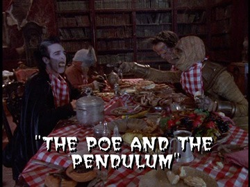 "Title Card for ""The Poe and the Pendulum""."