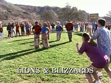 "Title Card for ""Lions & Blizzards""."