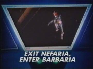 "Title Card for ""Exit Nefaria, Enter Barbaria""."