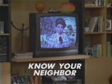 "Title Card for ""Know Your Neighbor""."