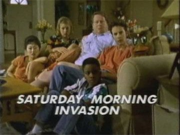 "Title Card for ""Saturday Morning Invasion""."