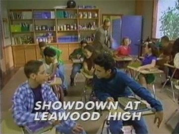 "Title Card for ""Showdown at Leawood High""."