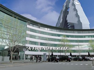 "Title Card for ""A Friend Indeed""."