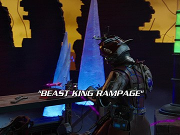 "Title Card for ""Beast King Rampage""."