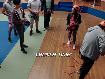 "Title Card for ""Crunch Time""."